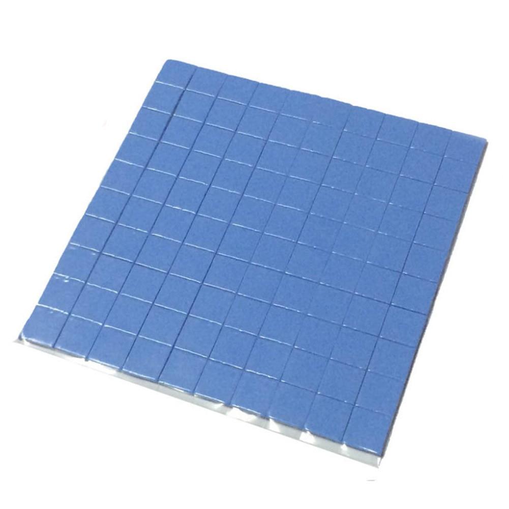 2018 high quality 10mm*10mm*1mm 100 pcs Thermal Pad GPU CPU Heatsink Cooling Conductive Silicone Pad cpu gpu silicone thermal pad heatsink cooling conductive heat sink 100mm 100mm 1mm white