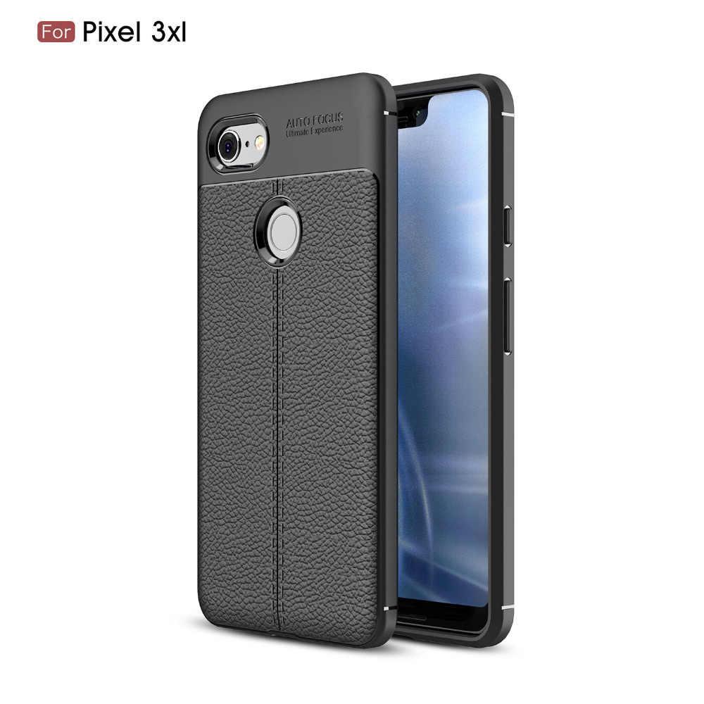 Чехол из углеродного волокна для Google Pixel 3 2/Google Pixel 3 XL, мягкий чехол для Google Pixel 3 2 XL 4 4xl 3A 3AXL , чехол для телефона, Fundas Etui Capa