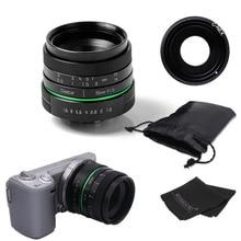 New green circle 35mm APS-C CCTV camera lens For Sony NEX Camera NEX-6,NEX-5R,NEX-F3,with C-NEX adapter ring +bag + gift