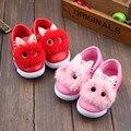 Palmilha 13-16 cm outono inverno menina dos desenhos animados shoes coelho bonito crianças suave inferior shoes