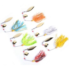 6pcs/set 13g 14g 15g Spinner Bait Bait Fishing Lure Spoon Fresh Water Shallow Water Bass Minnow Spinnerbait Lures Iscas Crank