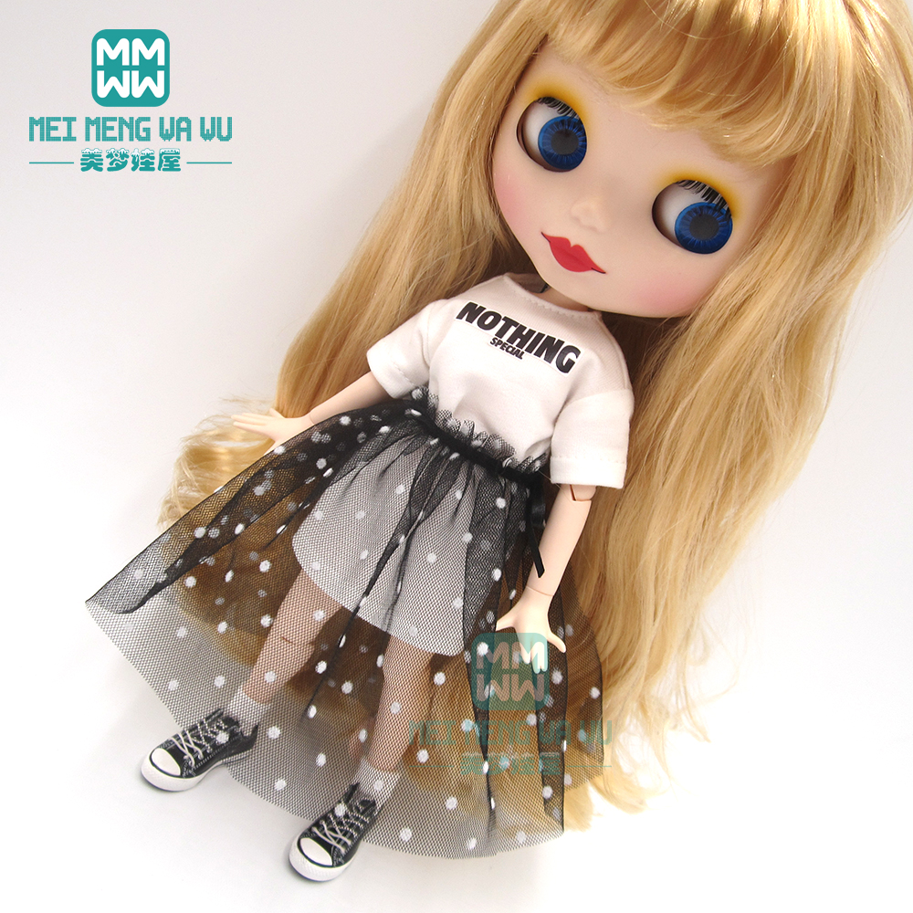 1PCS Blyth Doll Clothes Casual Long T-shirt, Letter Sweatshirt For Blyth Azone 1/6 Doll Accessories