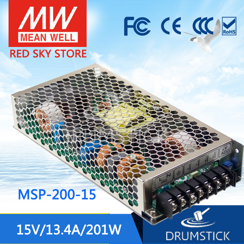 best-selling MEAN WELL MSP-200-15 15V 13.4A meanwell MSP-200 15V 201W Single Output Medical Type Power Supply