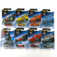 Hot Wheels Car Collector's Edition Honda 70th Anniversary Metal Diecast Cars Collection Kids Toys Vehicle For Gift 8pcs/set