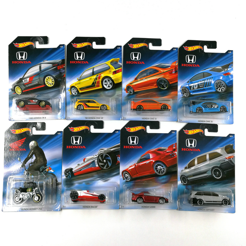 Hot Wheels 1:64 Car HONDA CIVIC ODYSSEY MONKEY 70th Anniversary Collector Edition Metal Diecast Model Car Kids Toys Gift