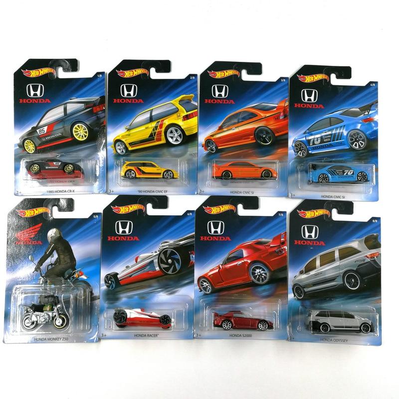 Hot Wheels 1:64 Car HONDA CIVIC ODYSSEY MONKEY 70th Anniversary Collector Edition Metal Diecast Model Car Kids Toys Gift