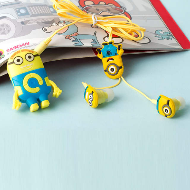 Cartoon Despicable Me Minions Download Free Music MP3 Player Support Micro  TF Card Slot With Minions 3 5mm Jack Music Earphones