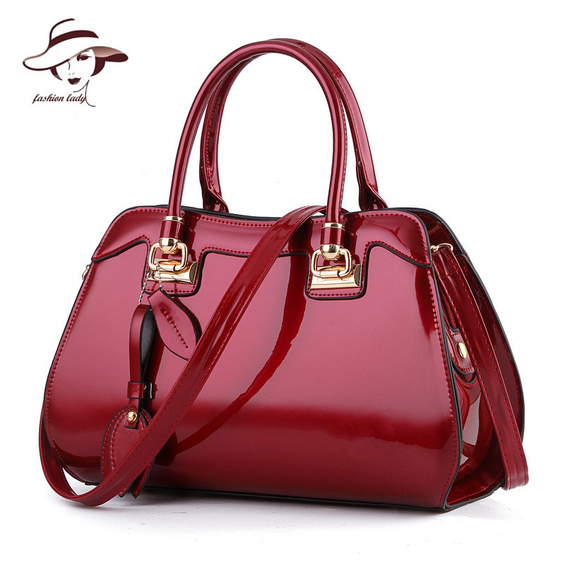цены 2017 New Women Bag Famous Designer Brand Ladies Patent Leather Handbags Luxury Shoulder Messenger Bags Bolsa Tote Bags Feminina