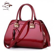 2017 New Women Bag Famous Designer Brand Ladies Patent Leather Handbags Luxury Shoulder Messenger Bags Bolsa