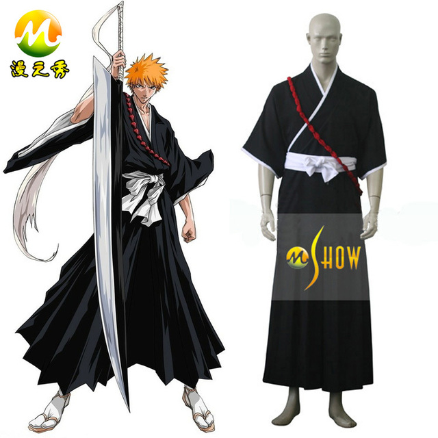 Bleach Ichigo Kurosaki Soul Reaper Uniform Cosplay costume for sale  halloween party night cosplay costumes clothes