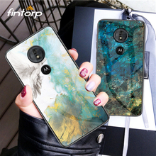 Case For Motorola Moto G6 Plus Play Cases Coque Luxury Marble Tempered Glass Cover On for G5S G5 Bumper Funda Capa