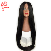 Hesperis 360 Lace Frontal Wigs Baby Hair Brazilian Remy Human Hair Lace Front Wigs Silk Straight Pre Plucked 130 densityLace Wig