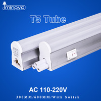 IMINOVO 4Pack LED Tube T5 Integrated Light AC110V 220V LED Fluorescent 60CM 2FT 10W Milky Cover