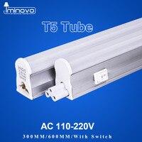 IMINOVO 4Pack LED Tube T5 Integrated Light AC110V 220V LED Fluorescent 60CM 2FT 10W Milky Cover