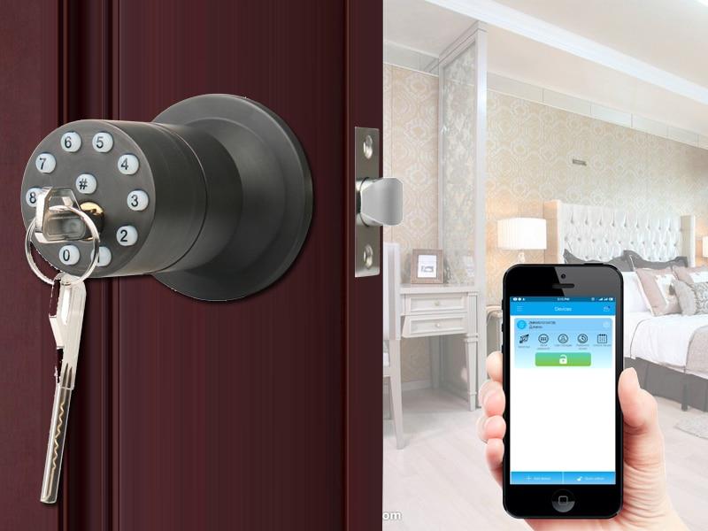 HTB1W0hwa2fsK1RjSszbq6AqBXXaV RAYKUBE Knob Digital Code Electronic Door Lock Bluetooth APP Password Keyless Opeing Enter Smart Live Waterproof IP65