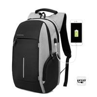 M041 Multifunction Reflective Stripe Men 15 6 Inch Laptop Backpacks For Teenager Fashion Male Mochila Leisure