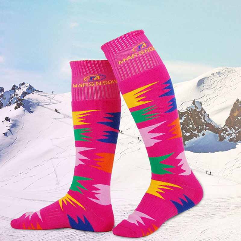 Unisex Childen Women Men Winter Sports Warm Thermal Long Ski Snowboarding Socks Walking Hiking Sock Thermosocks Warmers