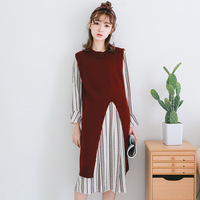 Spring Of 2018 In Long Vest Sweater Ma Jianv Color Before The Split Ends