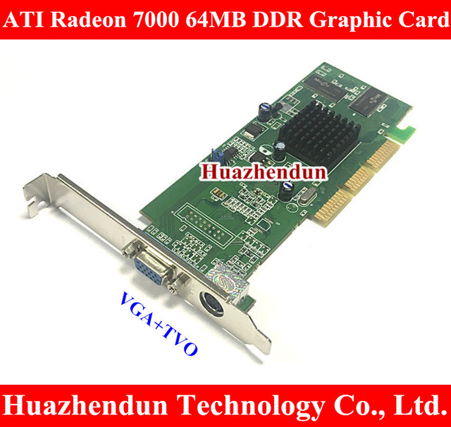 ATI Sapphire Radeon 7000 64M DDR 64MB AGP VGA Video Card With VGA+TVO interface Warrantly: 1 years