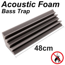 1 PC 12X12X48 Cm (4.7X4.7X18.8 In) alas Acoustic Foam Panel Bass Perangkap Penyerapan Suara Suara Pengobatan(China)