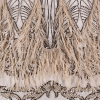 Top quality Sequins lace fabrics for african parties beaded lace french net lace embroidery lace ankara fabric 5yard/piece ZLN64