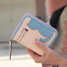 Женские кошельки для подростков и девушек, короткие кошельки с кошками, держатель для карт, Cartera Mujer Carteiras Femininas De Couro