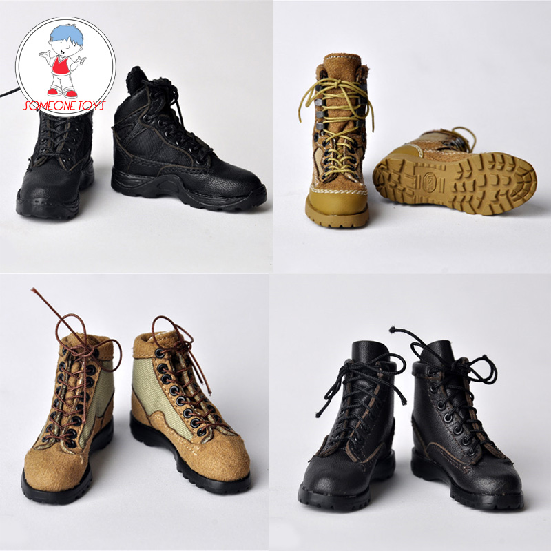 1//6 Scale Soldier Combat Boot Shoes for 12/'/' Action Figure