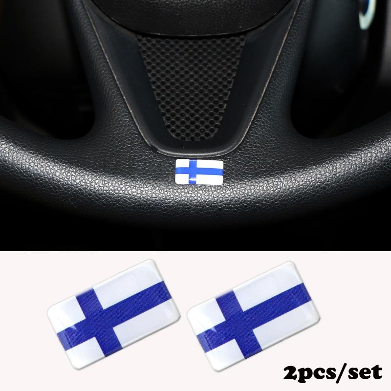 2pcs/set Steering Wheel 3D Epoxy Car Fit For Alfa Romeo