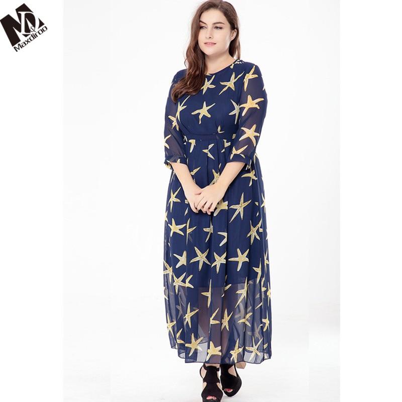 Maxdiroo 2018 Women Dress Print Party Dress Women Plus Size Long Sleeve  Causal Dress Long Maxi Dresses for Women 4XL 5XL -in Dresses from Women s  Clothing ... 4fcce09f13b8