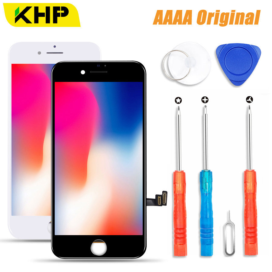 2019 KHP 100% AAAA Original LCD Screen For IPhone 8 Plus Screen LCD Display Digitizer Touch Module 8 Screens Replacement LCDS