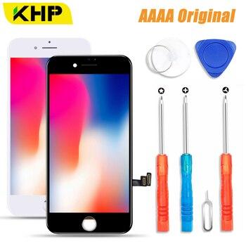 2018 Khp 100% AAAA Asli Layar LCD untuk iPhone 8 PLUS Layar LCD Display Digitizer Sentuh Modul 8 Layar Pengganti LCD