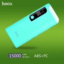 HOCO Powerbank 15000mAh Portable Mobile Power Bank with Table Bank Dual USB Ports Universal External Power Backup B27