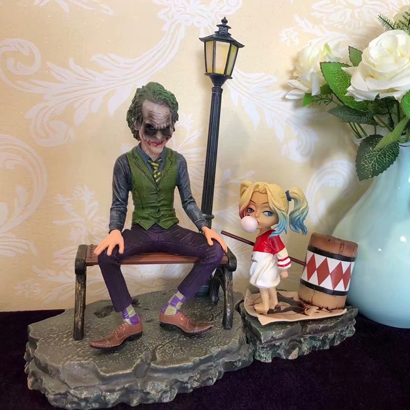 все цены на 2pcsset Injustice League Suicide Squad Harley Quinn Joker Scene Ver DC Comics Action Figure Collectible Toy Doll Christmas Gift онлайн