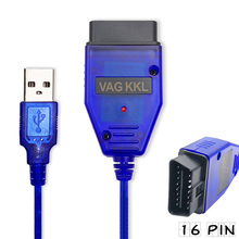 2018 New VAG-COM 409.1 Vag Com 409.1 KKL OBD2 USB Cable Scanner Scan Tool Interface For audi vw seat volkswagen skoda(China)