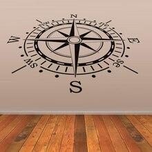 Compass Wall Sticker Creative Home Decor Living Room Decorative Vinyl Waterproof House Decor
