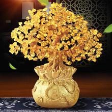 Wyposażenia wnętrz do dekoracji wnętrz żywica kryształ DIY drzewo pieniędzy sklepie z ornamentami biuro salon szczęście figurki rzemiosła sztuki prezent ślubny tanie tanio Żywica Duszpasterska Maskotka FGHGF