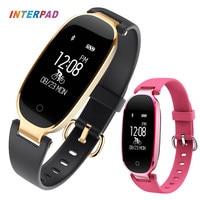 Interpad S3 Smart Watch Fashion Sport Bluetooth Smart Wristband Phone Smart Clock Heart Rate Monitor Smartwatch For Women Girl
