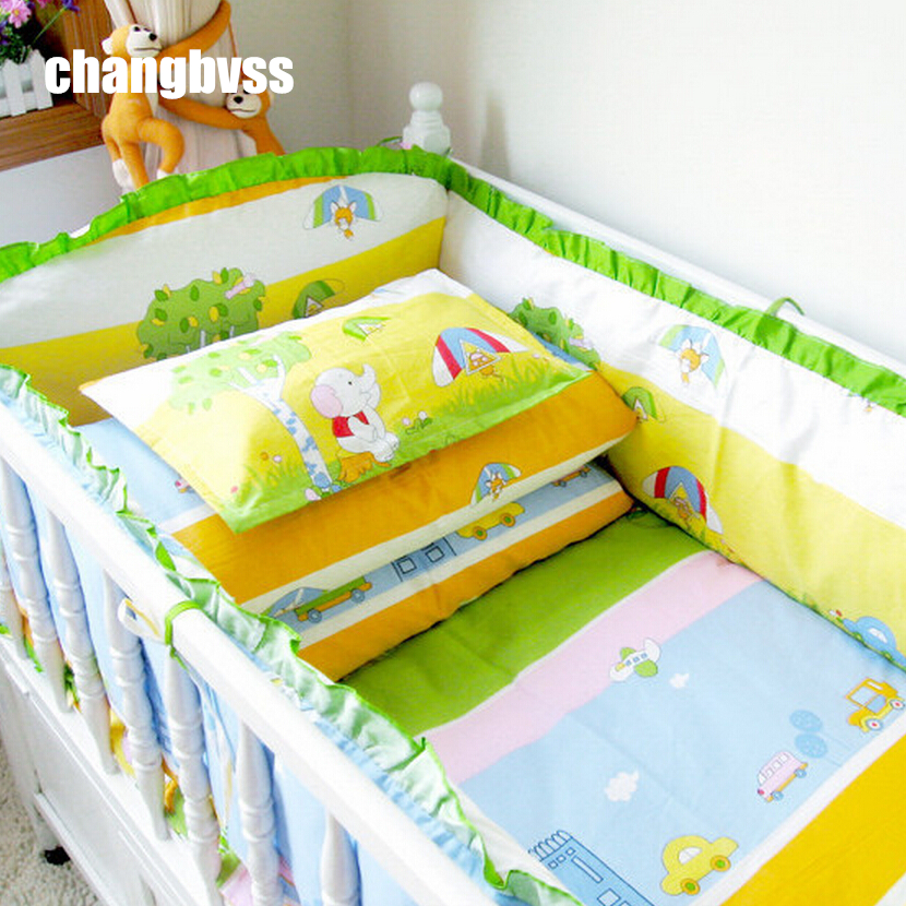 ФОТО The best choice for Child 100% Cotton Bedding Set Baby Baby Nursery Bedding Sets Include Bumpers In The Crib 10 pcs/set