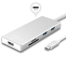 CY USB 3.1 Type-C USB-C to HDMI & Multiple Dual Ports 3.0 Hub & TF SD Card Reader & Power For PC Laptop & Macbook