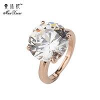 Golden Plated Big Shinning Water Drop CZ Crysatl Wedding Rings For Women Jewelry Bague Bijoux Femme Engagement ring Accessories