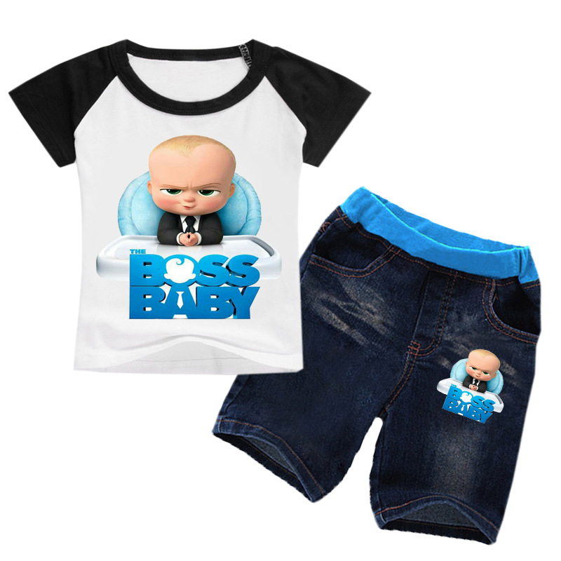 2-8Years Bobo Choses Summer 2018 The Baby Boss Clothing Boy Summer Set Girl Set Clothes 2pcs Shirt Set Tshirt Shorts Kids Jeans 2pcs set baby clothes set boy