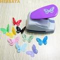 Envío Gratis 4,7 cm mariposa 3D forma tabla punzón cortador de papel para tarjeta de felicitación Scrapbooking máquina perforadora hecha a mano