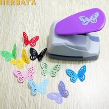 Freies Verschiffen 4,7 cm Schmetterling 3D Form Bord Punch Papier Cutter Für Gruß Karte Scrapbooking Maschine Handgemachte Loch Puncher