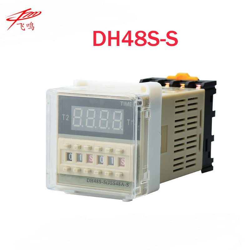 12V 24V 110V 220V Multifunction Digital Timer Relay On Delay 8 Pins SPDT DH48S-S Repeat Cycle 0.1S-99H 220vac digital time delay repeat cycle relay timer 1s 990h led display 8 pin panel installed dh48s s spdt