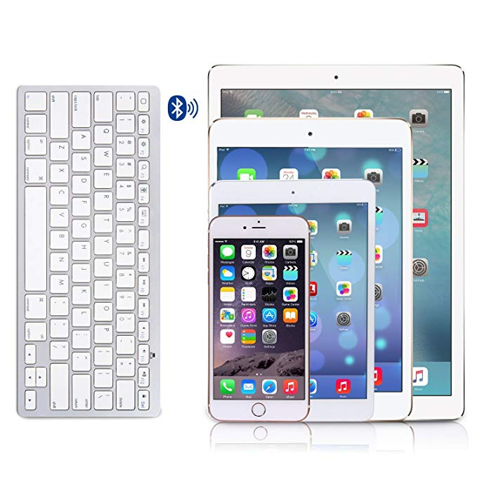 Image 5 - Ultra Slim Bluetooth wireless keyboard for Iphone Ipad Android Tablet PC Phone and other Bluetooth enabled devicesKeyboards   - AliExpress