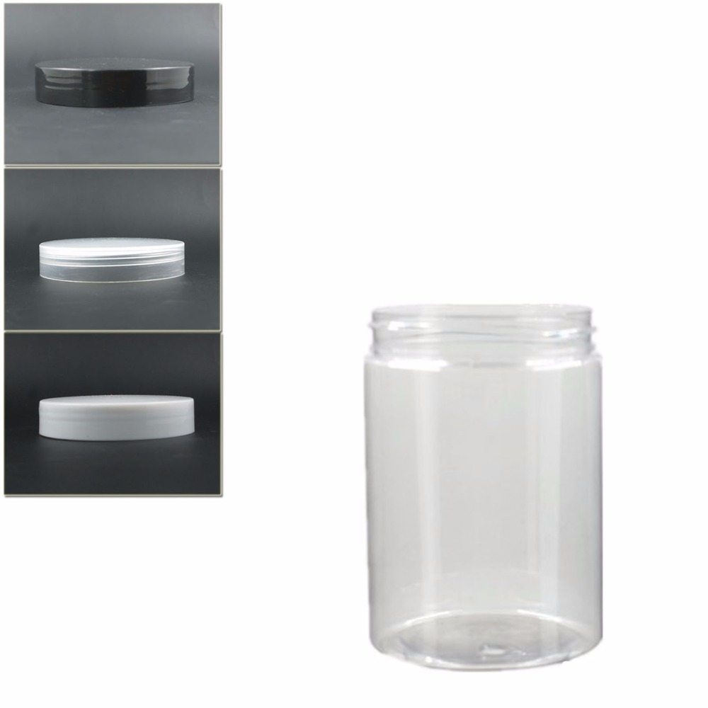 10pcs/lot 300ml Clear/amber Round Pet Jar Bottle Container With Transparent/white Plastic Lid For Cosmetic,food, Drug,Packaging,