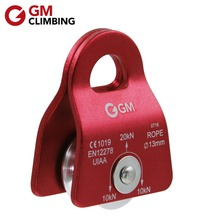 20kN Rope Pulley Climbing Equipment CE / UIAA Micro Mobile Pulley Rock Climbing Rappelling Caving Arborist Mountaineering