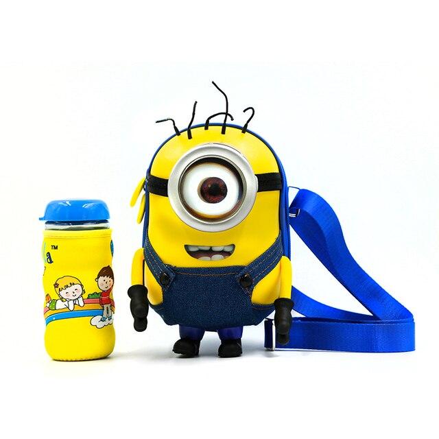 Гадкий я аниме 3D детский сад сумка Анимация детский Миньоны мешок школы студенты мультфильм кубок Бесплатно дети рюкзак