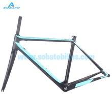 810g 51cm Carbon Road Bike Frame with Fork Seatpost Internl Di2 Headset UD Matt Cycling 700C