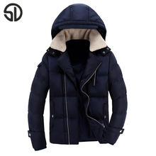 Men's Cotton thick leisure Jackets Parka Outerwear Winter Long Coat Hooded Removable cap wool jacket coat parka outwear parka